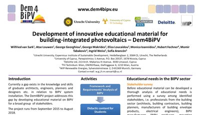 Dem4BIPV Poster Award at the 32nd EU PVSEC in Munich, Germany, June 2016