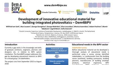 Dem4BIPV Poster Award at the 32nd EU PVSEC in Munich, Germany, June 2016